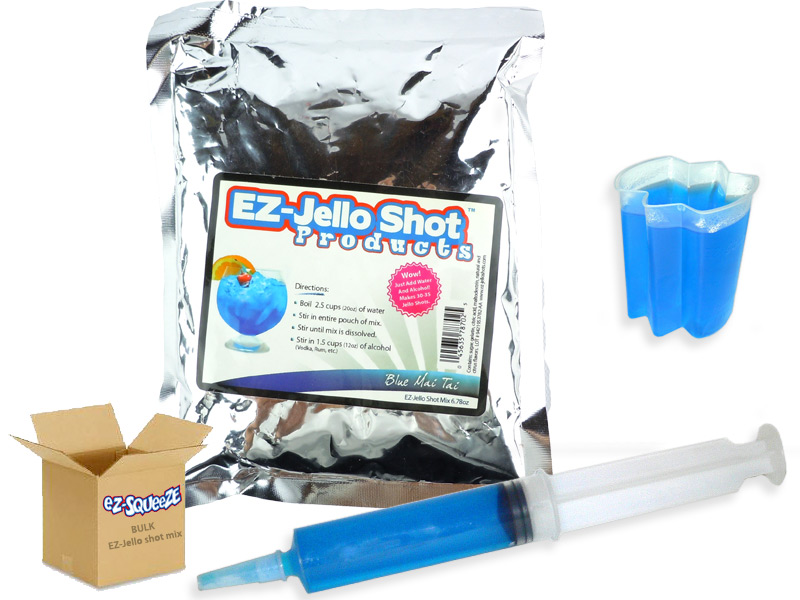 Blue Mai Tai EZ-Jello Shot Mix - BULK BOX