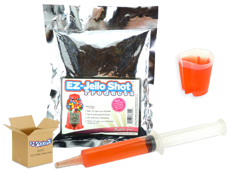 Bubble Gum EZ-Jello Shot Mix - BULK BOX