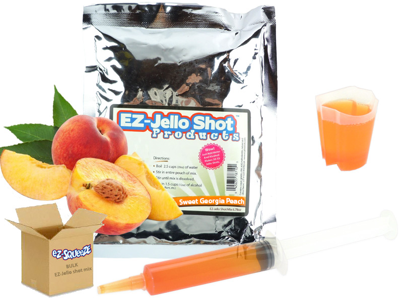 Sweet Georgia Peach EZ-Jello Shot Mix - BULK BOX