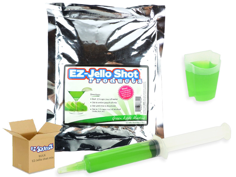 Appletini EZ-Jello Shot Mix - BULK BOX