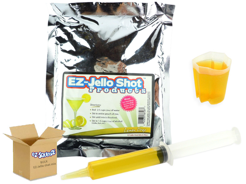 Lemon Drop EZ-Jello Shot Mix - BULK BOX