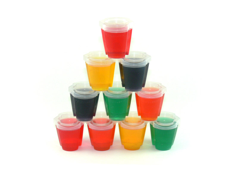 EZ-Squeeze Jello Shot Cups W/Lids 200 Pack